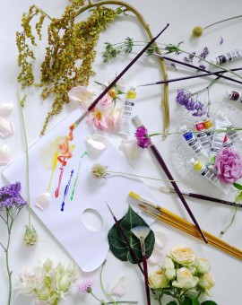 floral art jam workshop